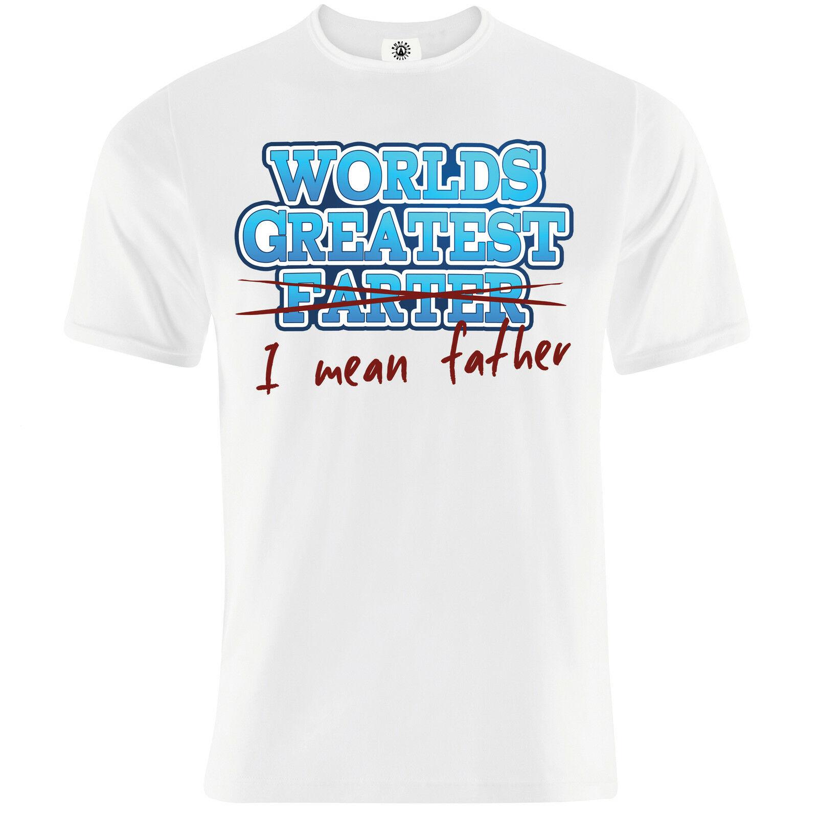 """""""mondi Più Grande Farter"""" Fathers Day Divertente Papà Nonno Regalo Della Novità T Shirt Un Arricchimento E Nutriente Per Il Fegato E Il Rene"""