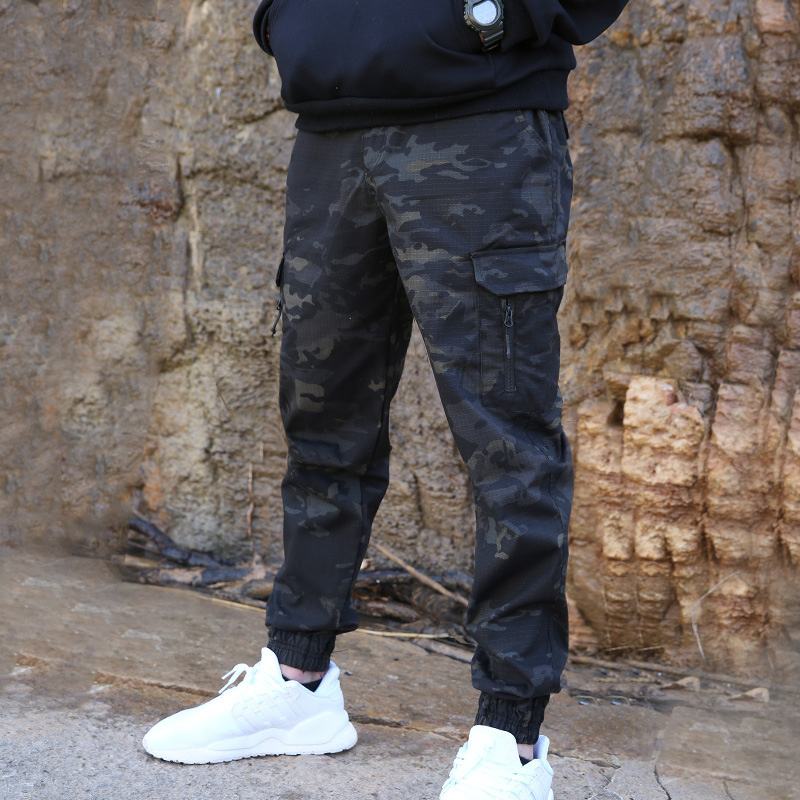 Men Fashion Streetwear Casual Camouflage Tactical Military Trouser Cargo Pants