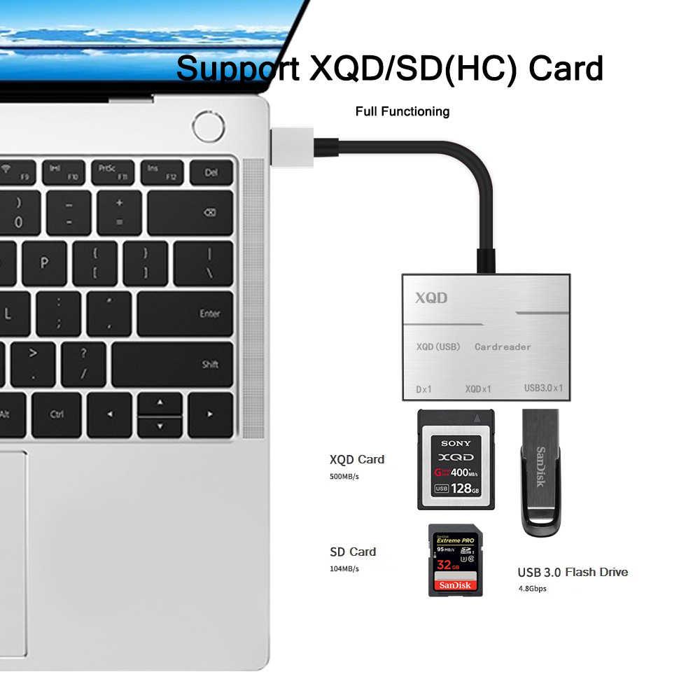 De alta velocidad XQD lector de tarjetas 500MB para Windows Nikon D4 D5 D500 Cámara Sony XQD
