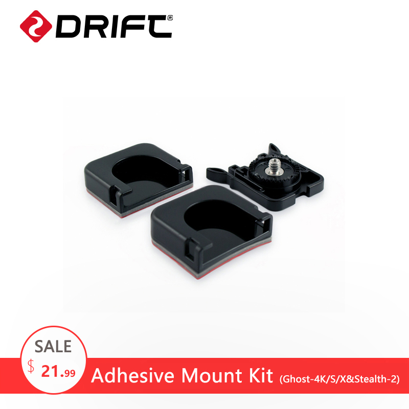 DRIFT Action Camera Accessories Go Sport Pro Yi Camcorder Adhesive Mount Kit Accessories for Ghost 4K/X/S and Stealth 2