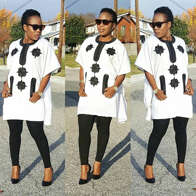 Dashiki vestidos africanos de algodón para mujer Top Bazin africanos - Ropa nacional