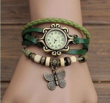 Fashion Leather watch - Bracelet Butterfly Hanging Ornament Wrist Watch 5
