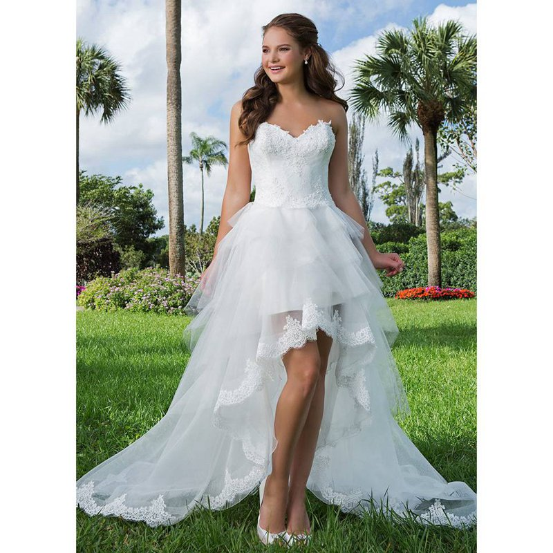 wedding dresses high low high low wedding dresses front back 9353