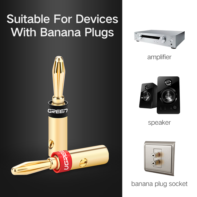 Banana Connector for Wired Speakers 4 pcs Set