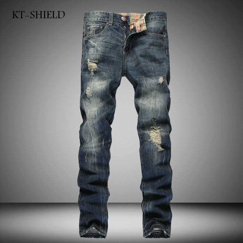New Fashion jeans pants for men casual famous brand full length Trousers Mens ripped biker straight mens denim vaqueros hombre 2017 fashion patch jeans men slim straight denim jeans ripped trousers new famous brand biker jeans logo mens zipper jeans 604