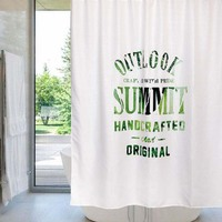 Natural Design Shower Curtain Bathroom Curtain Waterproof Mold Resistant Thick Fabric