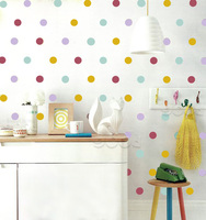 Mix Color Polka Dots Wall Sticker Wall Decal Removable Home Decoration Art Wall Decor Wall Art