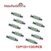 Car Styling 100X Blanc 29 MM 3-SMD 6641 Fusible De Voiture LED Pare-SOLEIL Miroir de Lumière Ampoules 6641 @ 20