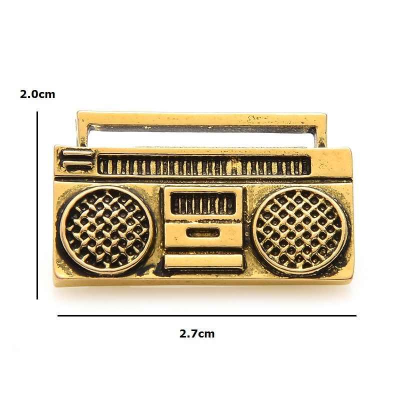 Wuli Bayi Vintage Retro Radio Recorder Bros Pin Wanita Kostum Musik Pin 2019 Merek Desainer Perhiasan