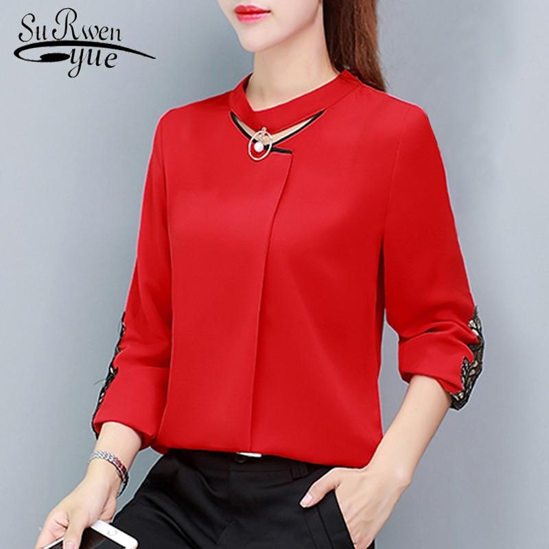 new long sleeve   shirt   women chiffon   blouse     shirt   fashion womens tops and   blouses   2019 office   blouse   women blusa feminina 1316 40