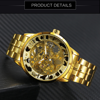 WINNER Men's Skeleton Dress Automatic Mechanical Watches 3