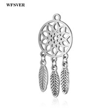 WFSVER 2pcs/lot 14*18mm Silver Color Stainless Steel Halloween Charms Pendants Accessories For Women Diy Necklace Jewelry Making