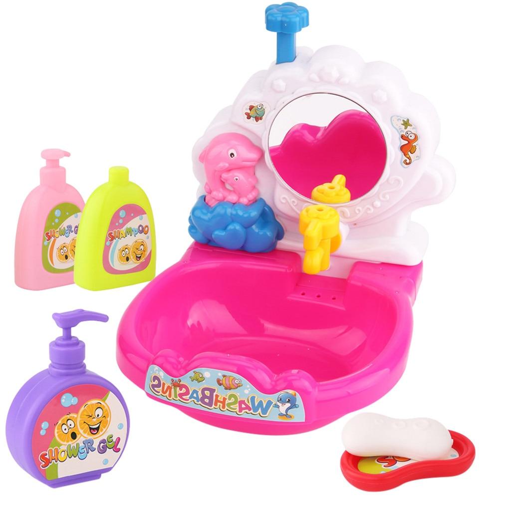 Bébé salle de bains jouer jouet cadeaux douche jouets lavabo jouet bain dessin animé mignon baignoire bain plage jouet a523