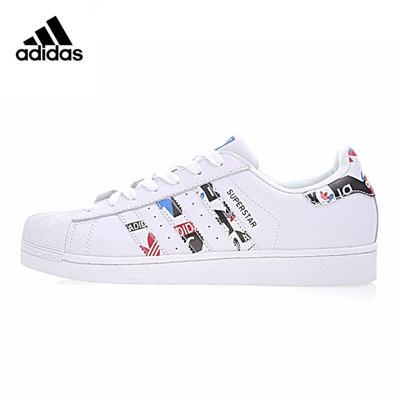 quality design 16ee8 0fbba Original nueva llegada auténtico Adidas trébol superestrella hombres y  mujeres zapatos de skate Zapatos blanco vestir