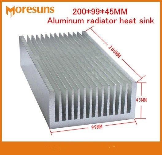 Radiateur en aluminium de radiateur d'aileron de refroidissement de refroidisseur de radiateur de la puissance élevée 200*99*45 MM de bateau libre pour le LED, Transistor de puissance IC, carte PCB de Module