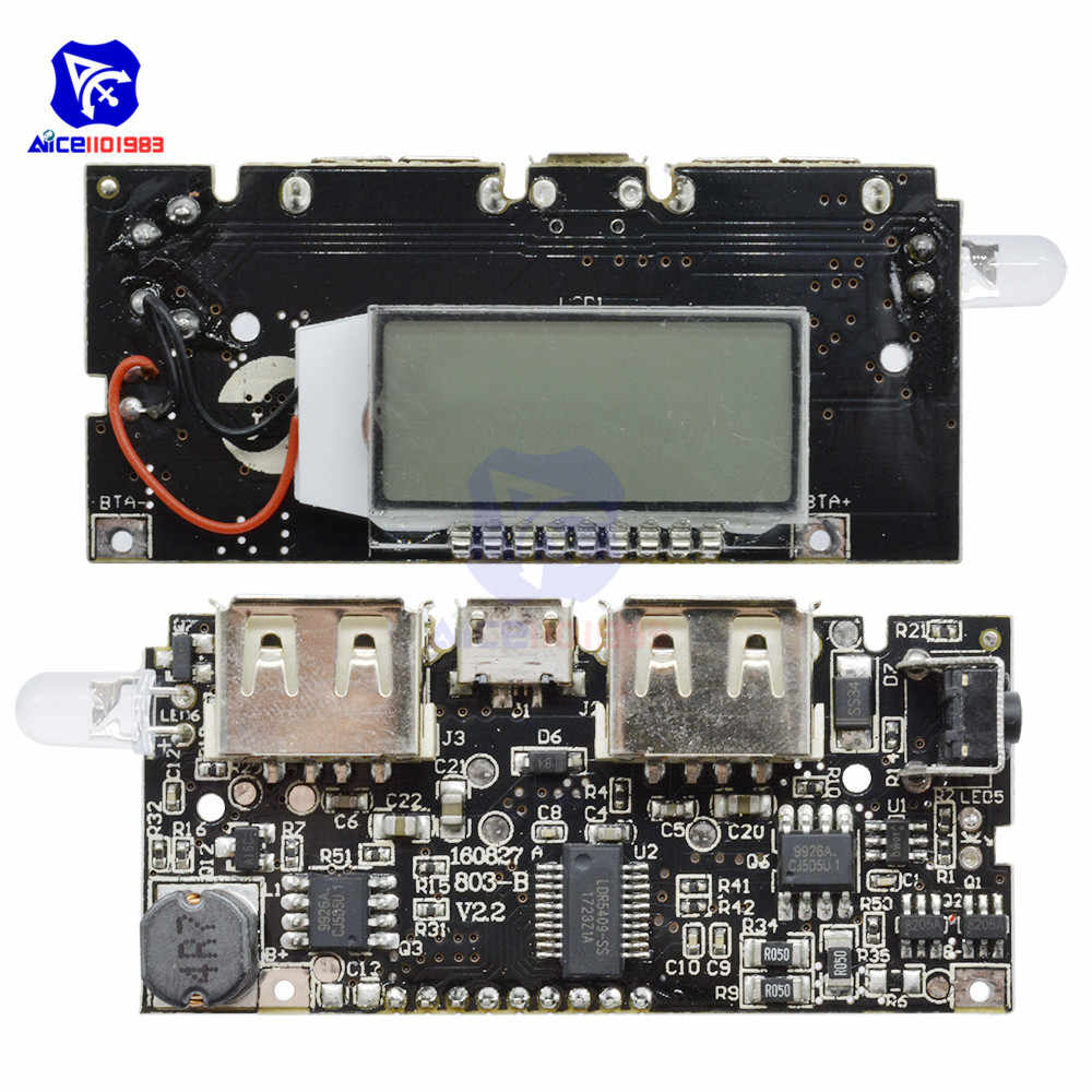 medium resolution of power bank 18650 battery charger power module dual usb 5v 1a 2 1a output micro usb
