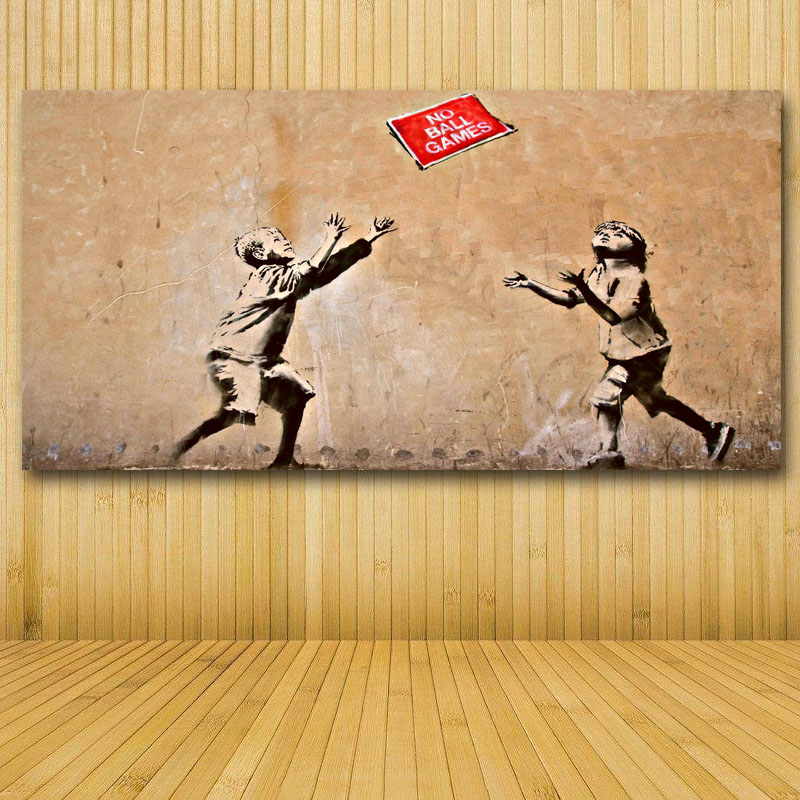 Enchanting Banksy Wall Art Canvas Ensign - Wall Art Design ...