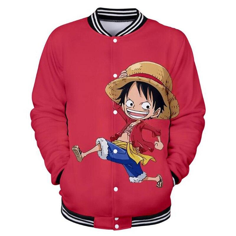 Anime One Piece Luffy 3D Printed Baseball Uniform Men's Jacket Outwear Japanese Streetwear Harajuku Funny Hoodies Sweatshirt Men