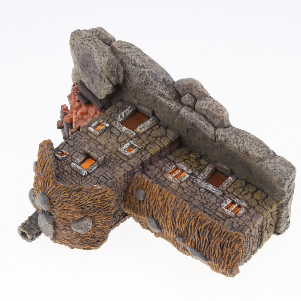 Mini Cottage House Figurine Garden Sculpture Resin Craft Micro Landscape DIY Fairy Garden Accessories