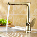 Antique Faucet Copper Plating Zirconium Gold Kitchen Faucet Continental Basin Faucet Rotate Bathroom Faucet