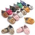 Nuevo llega romirus borla borlas botas de mocasín zapatillas pu prewalkers bebé mocasín zapatos de los bebés recién nacidos