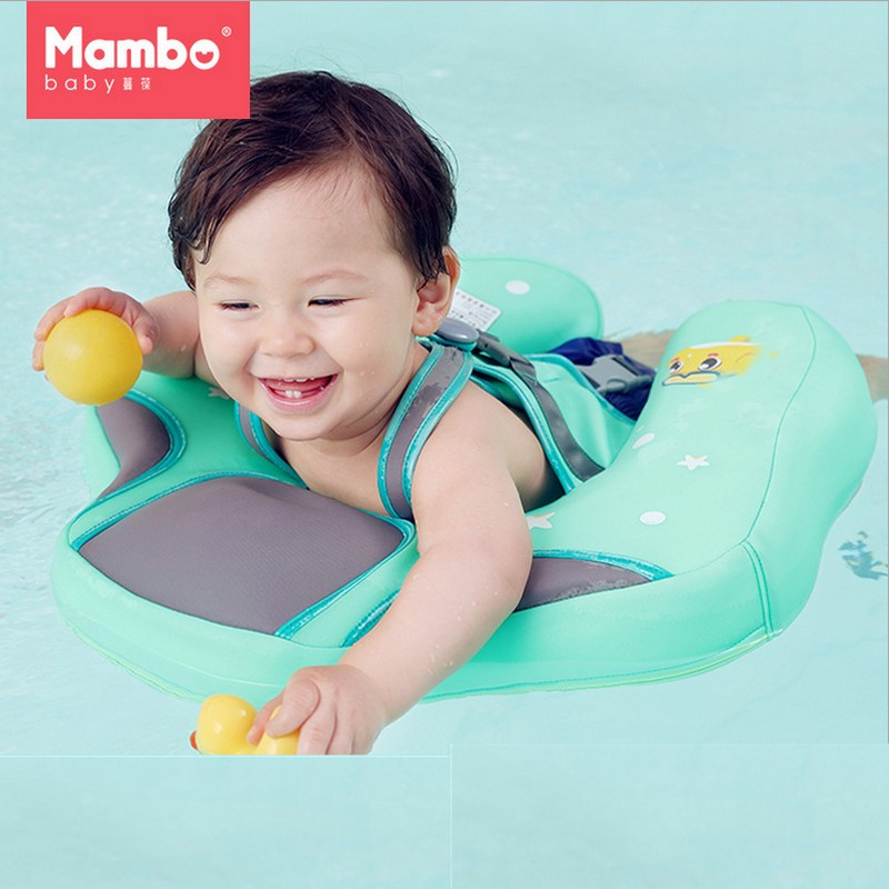 Free Inflatable Baby Swimming Ring floating Children Waist No inflation Float Swimming Pool Toy for Bathtub and Swim Trainer