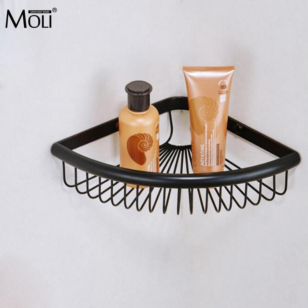 все цены на Bathroom Shelf Wall Mounted Corner Shelves Shampoo Holder Single Level  Oil Rubble Bronze Finished онлайн