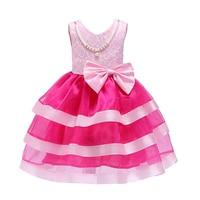 ZT2331 Spring Kids Dresses Party Dress Summer Little Girls Dress Knee Length A Line Princess Dress