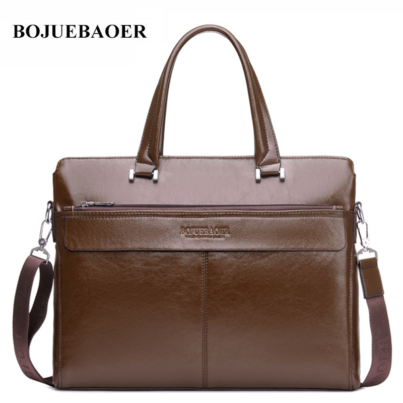 2017 New Men Casual Briefcase Business Shoulder Bag Leather Messenger Bags Computer Laptop Handbag Bag Men's Travel Bags 2015 men casual briefcase business shoulder leather bag men messenger bags computer laptop handbag bag men s travel bags