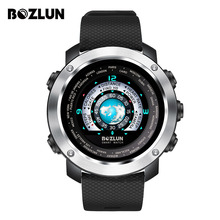 Fashion Mens Smart Watch for iPhone Android with Heart Rate Monitor Pedometer Sleep Track Colorful Screen Dual Face Display W30