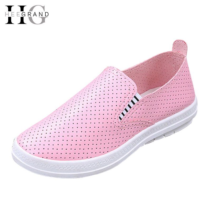 HEE GRAND  Loafers  Shoes Woman Platform Breathable Casual 2017 Slip On Flats Soft Women Shoes Creepers Size 35-40 XWD4581 hee grand summer gladiator sandals 2017 new platform flip flops flowers flats casual slip on shoes flat woman size 35 41 xwz3651