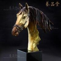 European crafts copper ornaments horse living room TV cabinet decor decoration high grade study leader Ma