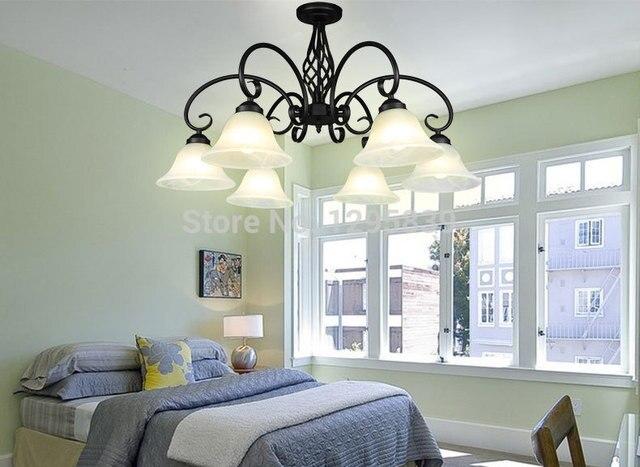 Hanglamp Voor Slaapkamer : Smeedijzeren lampen hanglamp europese model lagere woonkamer