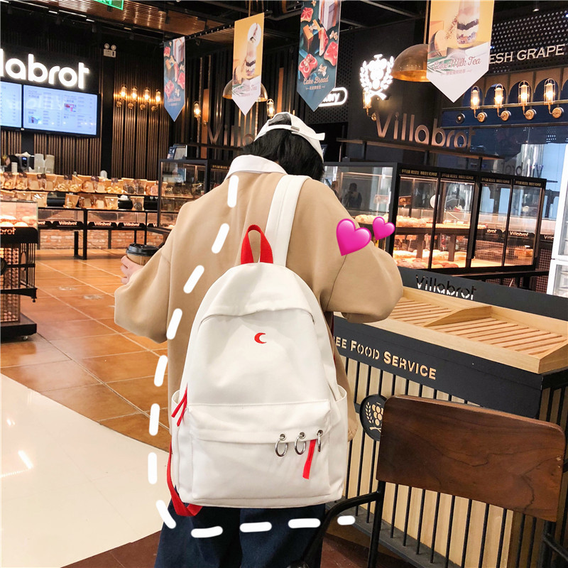 2019 New College Wind Small Fresh Embroidery Student Bag Female Korean Version New Casual Large Capacity Backpack