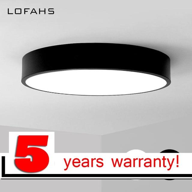 Lofahs Moderne Led Plafonnier Rond Simple Décoration Luminaires