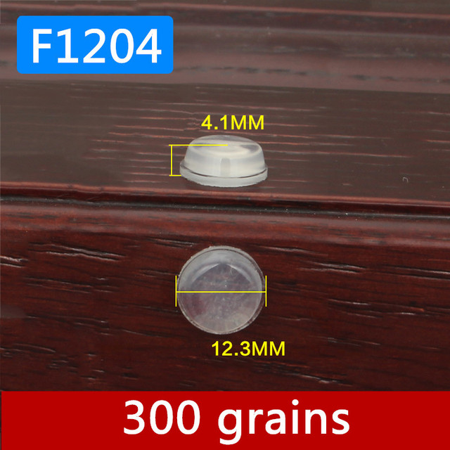 300 Grains 12x4mm Cabinet Door Bumper Self Adhesive Silicone Damper
