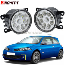 2PCS LED Fog Lamps White Yellow For Renault Megane 2/II Saloon LM0 LM1 2003-2015 Car Exterior Accessories H11 12V