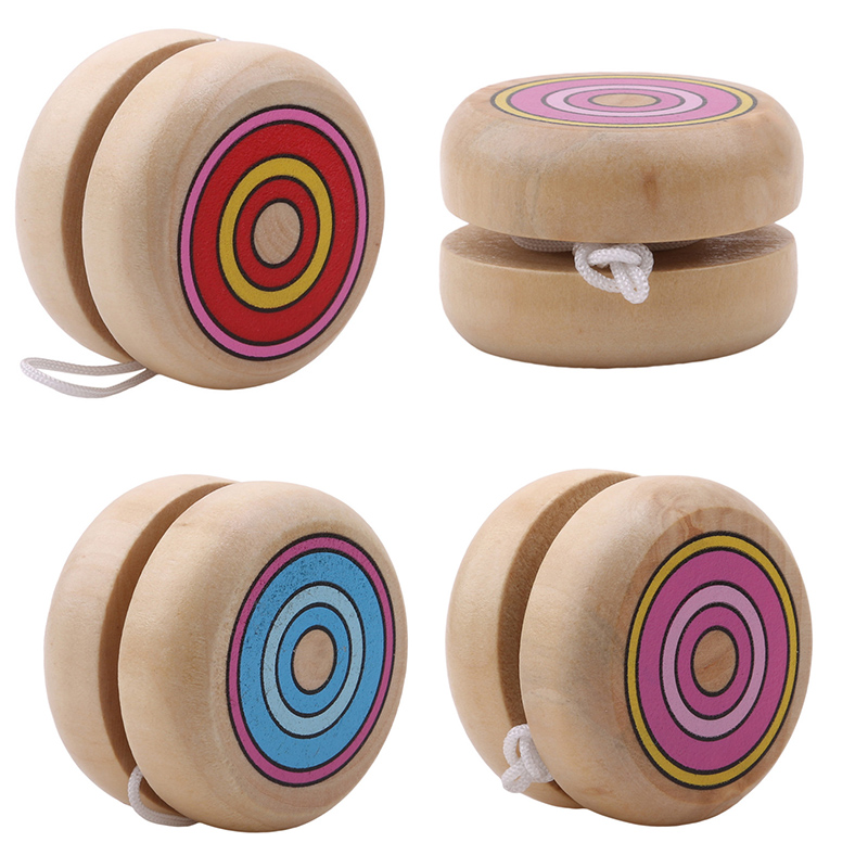 Wholesale wooden YOYO yo yo kids classic toys xmas gifts party favors kindergarten school carnival loot bag filler