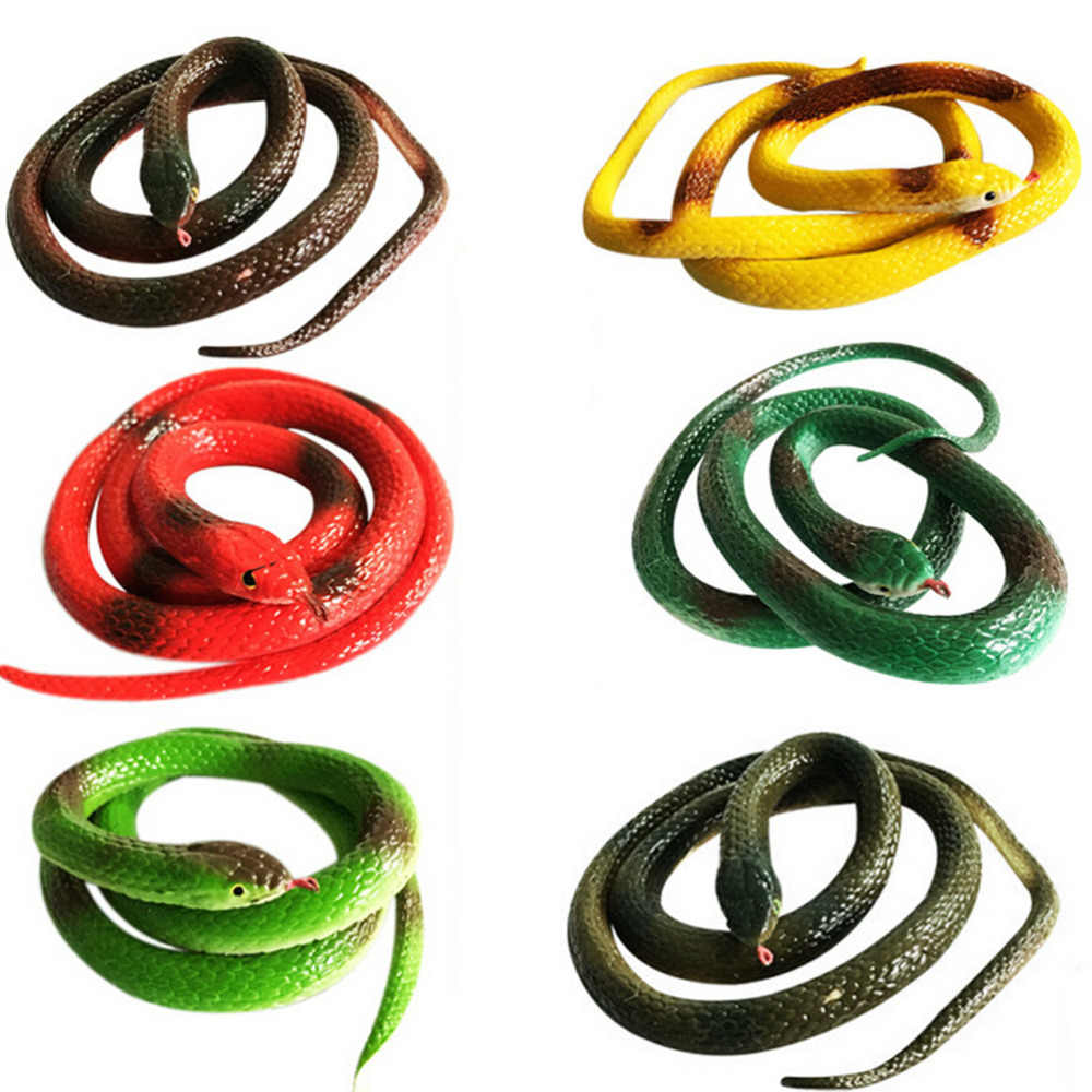 1 PC Simulation Soft Scary Fake Snake Rubber Horror Toy Halloween Gift Tricky Funny Spoof Toy Party Joke Funny Gags Trick Toy