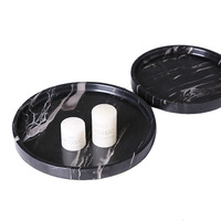 Plate Marble Round Tray Decoration Home Living Room Restaurant Cafe Decoration Trays