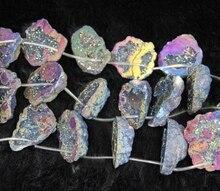 50mm*10pcs Rainbow Druzy Crystal Geode Pendant Unique Quartz Druzy Drusy Pendant Quartz Necklace Beads Crystal Geode Necklace