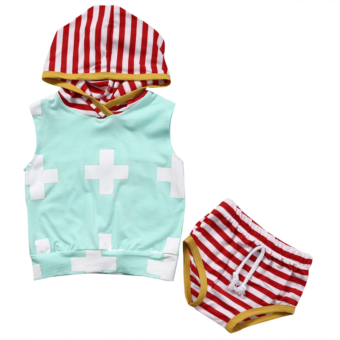 Newborn Toddler Kids Baby Boy Hoodies Tank Tops Shorts Pants Outfit Set Clothes Infant Kid Boys Clothing Children Kid Cotton