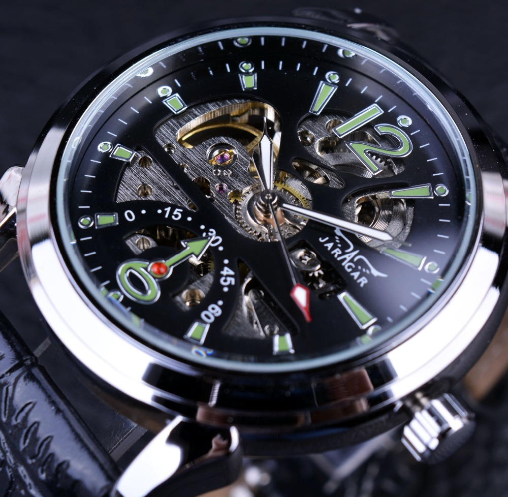 Jaragar 2016 New Series Army Green Designer Sport Military Watch Mens Watches Top Brand Luxury Skeleton Automatic Casual Watches