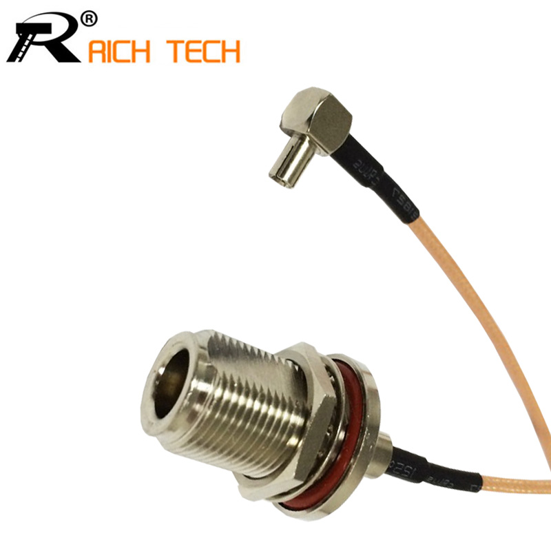 RF N Switch TS9 Pigtail Cable N Female Bulkhead O-ring Connector Switch TS9 Male Right Angle Connector RG316 Cable 15cm 6 zayavlenie o i i strelkova o gotovnosti pvo rf obespechit bespoletnuyu zonu