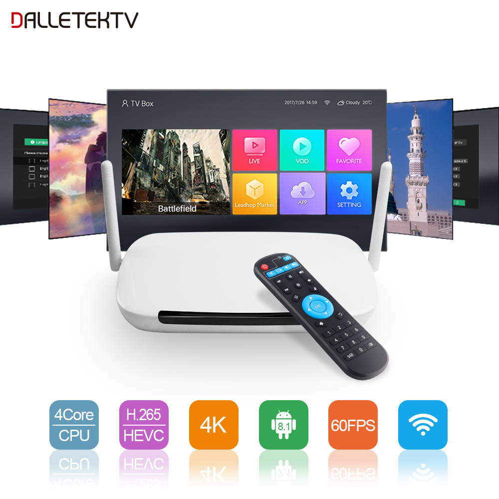 Leadcool Q9 Smart Android 8.1 TV Box RK3229 Quad Core 1G+8G Support 4K H.265 Decoder 2.4GHz WIFI Google Player Only TV Box