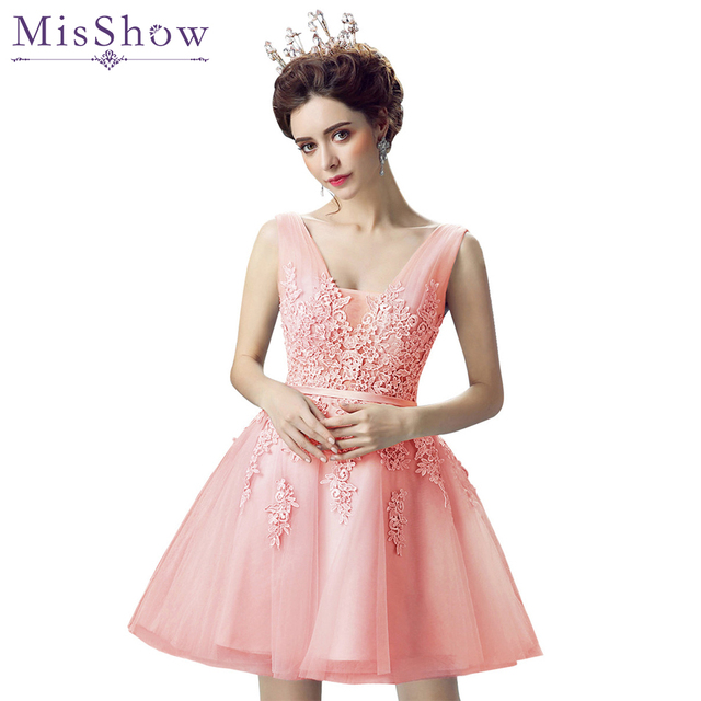 En stock gasa Vestido corto vestido de formatura 8th grado prom ...