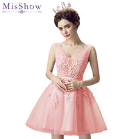 in Stock Homecoming dress Short vestido de formatura curto 8th grade prom dresses Tulle Lace Cheap Party Dresses for Girls 2019