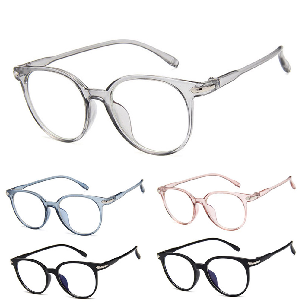 Women Spectacle Optical Frame Glasses Clear Lens Lady Vintage Computer Anti-Radiation Eyeglasses QL Sale