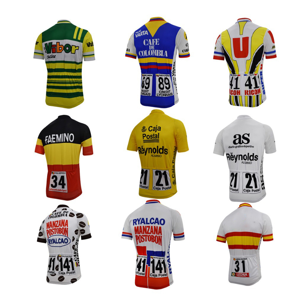 Retro Cycling Jersey Classic Red White Green Clothing Cycling Wear Racing Bicycle Clothes Cycling Clothing Braetan