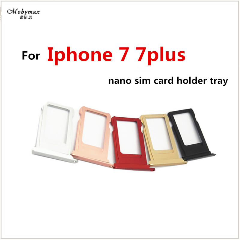 For iphone 7 Nano SIM Card Holder Tray Slot for iphone 7 Plus Replacement SIM Card Holder Adapter Socket Accessories